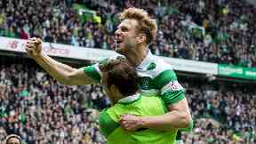 Stuart Armstrong celebrates, May 2017