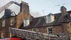 Blaze in Callander, Stirlingshire, over Ciro's restaurant