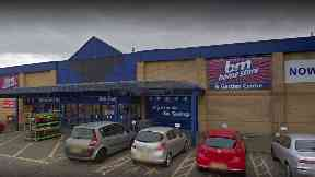 Brawl: The fight happened outside a B&M store in Dundee.