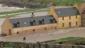 Flood: Parts of the North of Scotland have been battered by storms.