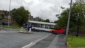 Crash: A bus was involved in the collision in Aberdeen.