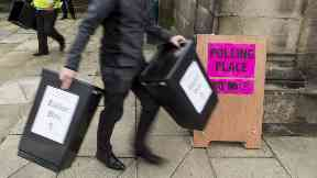 Ballot boxes are dispatched to polling stations in Edinburgh for general election 2017