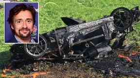 Richard Hammond managed to escape the car before it burst into flames.