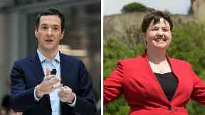 George Osborne and Ruth Davidson