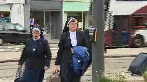 Sister Anna Maria Doolan of the Sisters of Nazareth. On way to Scottish Child Abuse Inquiry.