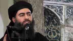 Abu Bakr al-Baghdadi pictured in July 2014.