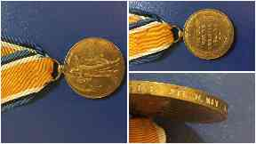 First World War medal found near Aucehndinny, on the Roadside near Loanstone Cottages, Midlothian on Saturday 17 June