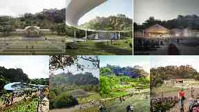 seven competing designs for new Ross Bandstand in Edinburgh Princes Street Gardens uploaded Tuesday June 20 2017
