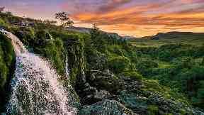 The Loup of Fintry at sunset by Allan Donald for Scotland from the roadside