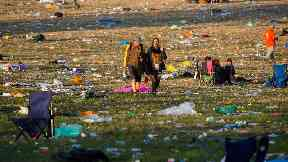 Glastonbury revellers will leave thousands of tonnes of rubbish behind them.
