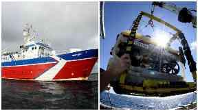 Oceana's ship Neptune and it's robot.
