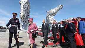 Queen at Kelpies in Falkirk