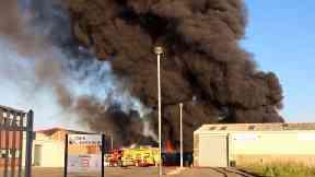 Paisley industrial estate blaze