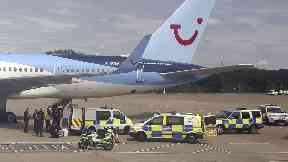 Emergency: The Thomson flight from Glasgow to Alicante was forced to land.