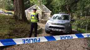 Falls of Bruar: A police cordon is in place at the Perthshire beauty spot.