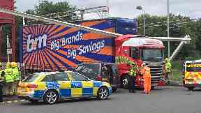 B&M: The lorry has resulted in trains being delayed.