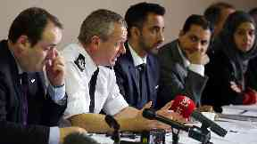 Deputy chief constable Iain Livingstone in white shirt