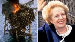 Piper Alpha / Margaret Thatcher composite