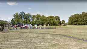 Bannerman Park: He was taken to hospital after the attack in Baillieston.