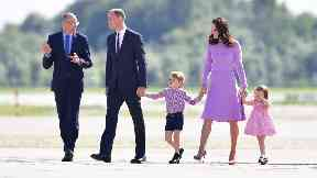 The Cambridges fly home after a five-day tour of Poland and Germany.