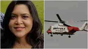 Nusrat Jahan, missing woman in Aberdeen, collage with helicopter.
