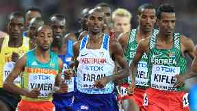 Sir Mo Farah retained his 10,000 metre World Championship title.