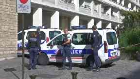 Police at the scene of a hit and run in Paris