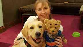 Hero guide dog Jumble and Lisa Halley