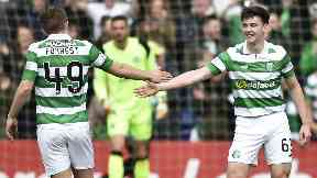 James Forrest and Kieran Tierney, April 2017