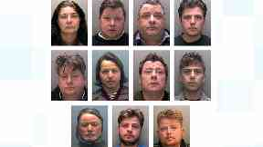 The 11 gang members were convicted of a mixture of fraud and slavery offences.