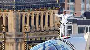 Sir Mo has taken the Mobot to new heights