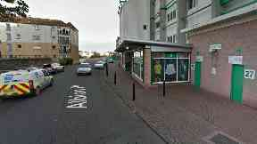 Hibs shop on Albion Place, part of Easter Road stadium.