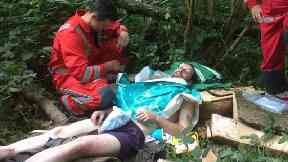 Paramedics eventually found Mr Robbins