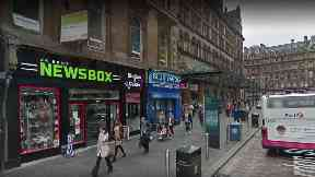 Gordon Street: Man suffered serious injures in Newsbox store.