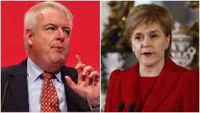 Collage of Carwyn Jones and Nicola Sturgeon. First Ministers of Wales and Scotland.