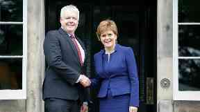 Nicola Sturgeon and Carwyn Jones 2017