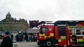 Evacuation after fire at Waverley Station in Edinburgh on 17/9/17