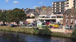 River Ness: Police, ambulance and fire crews called. Inverness