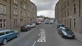 Blackness: Officers remained at the scene for days. Dundee
