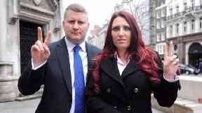 Britain First leader Paul Golding and deputy leader Jayda Fransen.