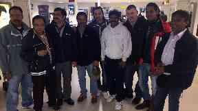 Malaviya Seven crew at Aberdeen Airport on 21/9/17