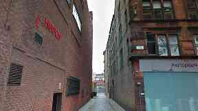 Lane between Parnie Street and the Trongate, Glasgow
