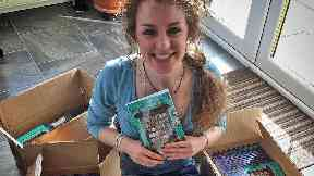 Megan Murray, 26 year old author of Maggie and the Magic Bookcase from Gourock