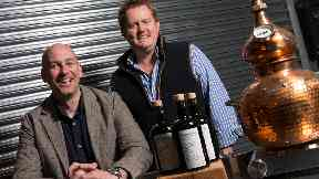 Peter Dingan and Richard Pierce have launched Scotland's first absinthe with the help of student Dylan Carney