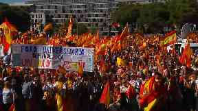 Catalonia referendum: Thousands attend pro-Spanish unity rally in Madrid following controversial vote