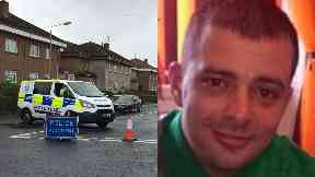 Mario Capuano: Officers cordoned off road.