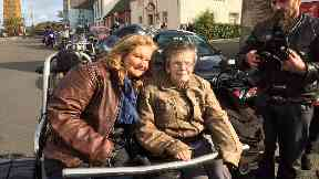 Cenetenarian Helen Kennedy on her biker trip around South Queensferry