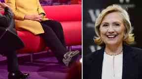 Hillary Clinton wore a protective boot after her untimely injury.