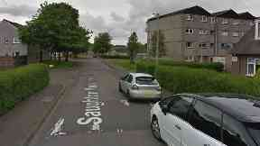 Saughton Mains Terrace in Edinburgh. Takeaway driver attacked by youths.