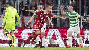 Bayern Munich's Joshua Kimmich celebrates making it 2-0